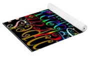Graphic Music Yoga Mat