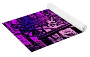 Horse Drawn Carriage In The Snow Yoga Mat
