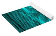 In Your Face In Neagtive Turquois Yoga Mat