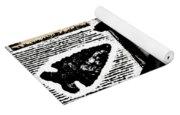 Indian Buffalo Jawbone Tomahawk Yoga Mat