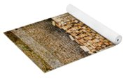 Left Over Brick In Antique Brick Kiln Yoga Mat