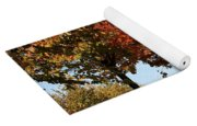 Line Of Autumn Trees Yoga Mat