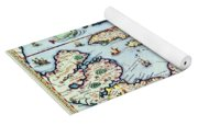 Map Of The Caribbean Islands And The American State Of Florida Yoga Mat