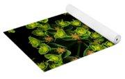 Martian Plants Against Black Yoga Mat