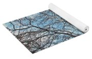 Mulberry Tree In Snow Yoga Mat