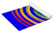 Neon Spiral Blue Yoga Mat