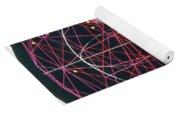 Neutrino Tracks Yoga Mat