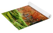 Orange Colored Trees Yoga Mat