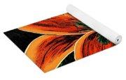 Orange Oriental Lily Yoga Mat