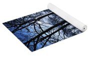 Park Path At Dusk Yoga Mat