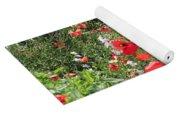 Patriotic Flowers Yoga Mat