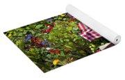 Picnic Table Among The Flowers Yoga Mat