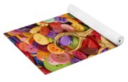 Pile Of Buttons With Scissors  Yoga Mat