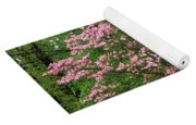 Pink And White Yoga Mat