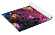 Pink Floral Abstract Yoga Mat