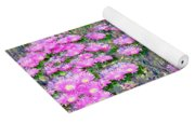 Pink Ice Plant Flowers Yoga Mat