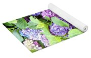 Pink Purple Hydrangeas Yoga Mat