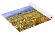 Poppies Over The Mountain Yoga Mat