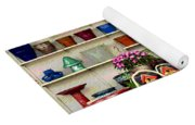 Pots And Birdhouses Yoga Mat
