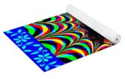 Psychedelia Within A Blue Framework Yoga Mat