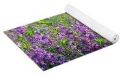 Purple English Garden  Yoga Mat