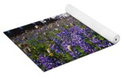 Purple Flowers Blooming Beneath Mount Yoga Mat
