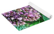 Purple Hydrangeas Yoga Mat