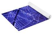 Purple Spiderweb Yoga Mat