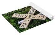 Railroad Crossing Light And Greenery Yoga Mat