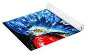 Rainbow Lorikeet Look Yoga Mat