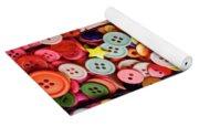 Red Lips Button Yoga Mat