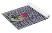 Red Rose Yoga Mat