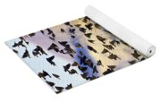 Red-winged Blackbirds At Sunset Yoga Mat