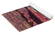 Rusty Barn Door Hinge  Yoga Mat