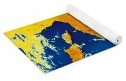 Satellite Image Of Italy Yoga Mat