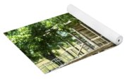 Settlers Cabin And Crosstie Fence 4 Yoga Mat