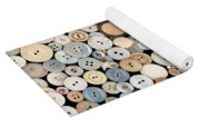 Sewing - Buttons - Lots Of White Buttons Yoga Mat