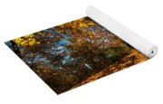 Splendor Of Autumn. Wooden House Yoga Mat