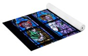 Stain Glass At Notre Dame Cathedral Parus Yoga Mat