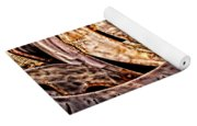 Stainless And Rust Abstract Yoga Mat