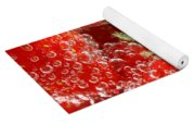 Strawberries In Water Close Up Yoga Mat