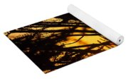 Sunset In The Trees Yoga Mat