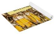 Thanksgiving Greeting Card - Dried Corn Stalks Yoga Mat