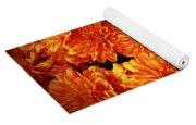Toasted Orange Chrysanthemums Yoga Mat