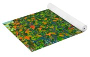Trees On Rocks In A Lake Yoga Mat