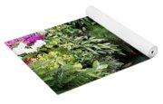 Victorian Garden Waterfall - Digital Art Yoga Mat