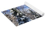 Winter Forest With Snow Yoga Mat
