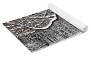 Winter Park With Snow Covered Trees Yoga Mat