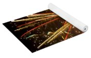 Yellow And Red Fireworks Yoga Mat