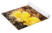 Yellow Cactus Flowers Yoga Mat